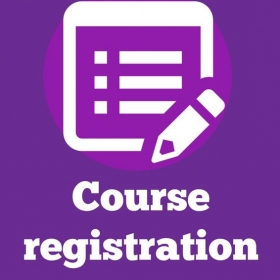 Course Registration 10. 6. – 27. 8. 2019